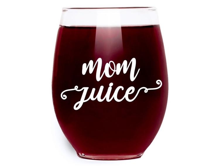 Quot Mom Juice Quot Funny Wine Glass Omg I Need